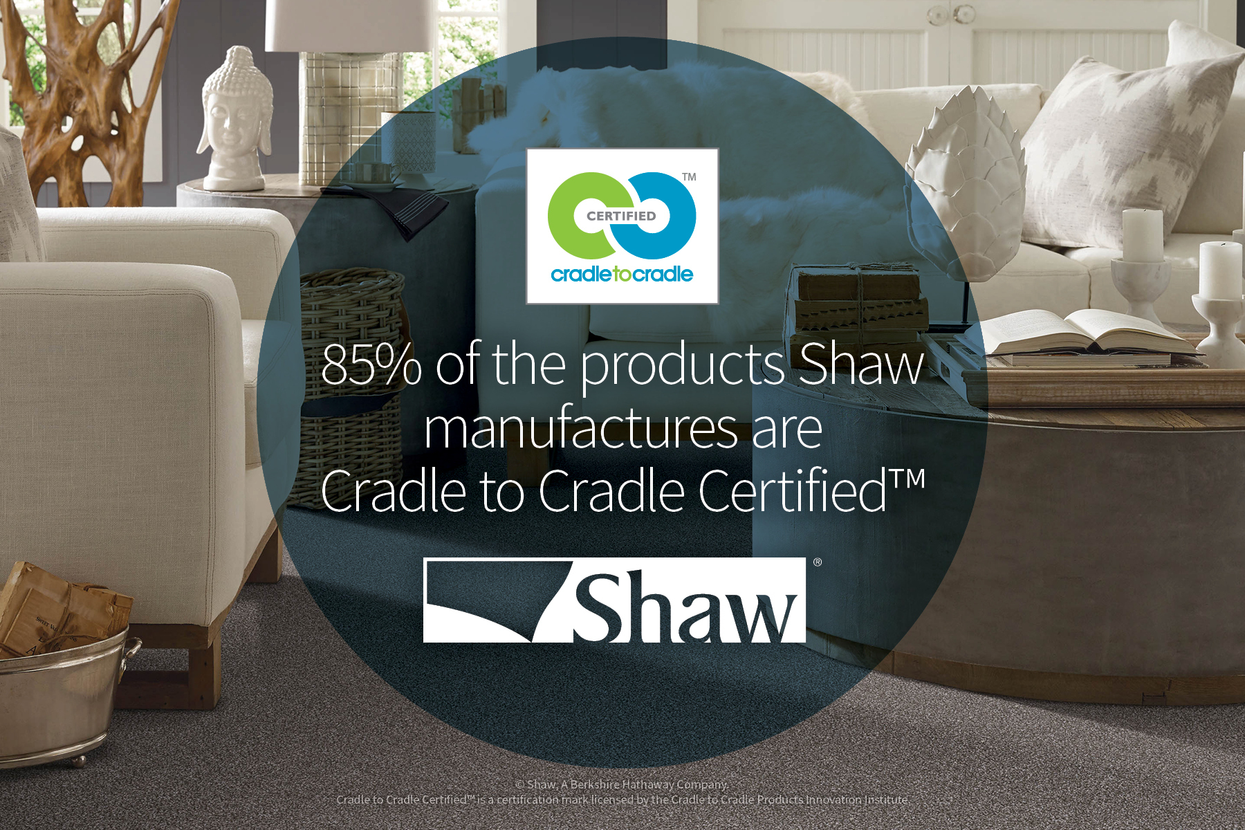 Shaw Industries achieves 85% Cradle to Cradle Certified products. (Photo: Business Wire)